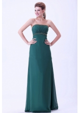 Green 2013 Prom Dress Pageant Beading and Ruching