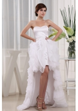 Cut Hi-low Ruffles 2013 Wedding Dress Discounted