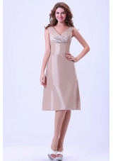 Under 150 Champagne V-neck Bridesmaid Dresses