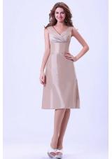 Under 150 Champagne V-neck Bridesmaid Dresses