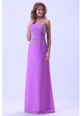 2013 Exclusive Lavender Prom Dress Beaded Chiffon