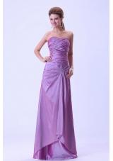 Hot Fashion Lavender Prom Dress Ruching Crystal