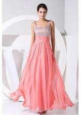 Beading Straps Watermelon Straps 2013 Prom Dress