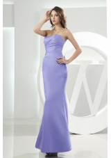 Sweetheart Lilac Mermaid Bridesmaid Dress Ankle-length