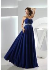 Sweetheart Empire Floor-length Royal Blue Prom Dress