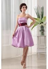 High Slit Purple High Slit Evening Dress Beading