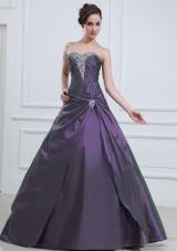 A-line Beading Quinceanera Dresses Floor-length