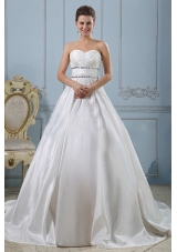 Sweetheart Beaded Decorate and Ruch Wedding Gowns