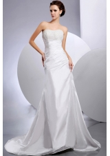 Beautiful Pick-ups Wedding Dress Ruching A-Line Court