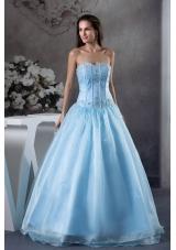 2013 Modern Sweetheart Embroidery A-Line / Princess Prom Dress