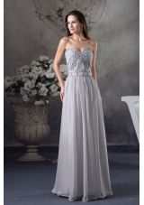 Discount Beading Column Sweetheart long Gray 2013 Prom Dress
