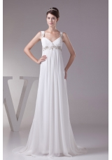 Plus Size Appliques Straps Empire Prom Dress For 2013 Customize