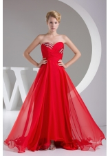 Sequins Sweetheart Empire Long Prom Dress With Zipper Back