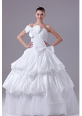 Bowknot Gorgeous Long Ball Gown Strapless Wedding Dress