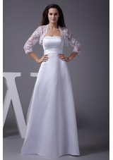 Strapless A-line Floor-length Wedding Dress