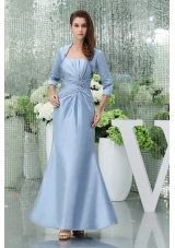 Strapless Beading Column Ankle-length Mother Of The Bride Dress