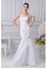 Mermaid Sweetheart Embroidery and Beading Wedding Dress in Spring 2013