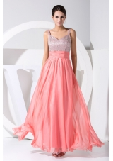 Strape A-line Sequin and Chiffon Ankle-length Cool -Beck Prom Dresses
