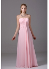 Recommended Empire Sweetheart Floor-length Pink Prom Dress for Girls