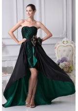 The Brand New Style A-line Sweetheart Lace High-low Sashes Prom Dress