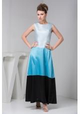 Bateau Sleeveless Ankle-length Bateau Prom Dresses in Multi-Colors