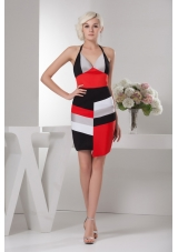 Halter Top Sheath Multi-color Mini-length Prom Dress Fast Delivery