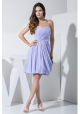 Pick-ups and Ruching Decorated Sweetheart Chiffon Prom Dresses