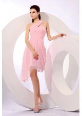 Empire One Shoulder 2013 Dress For Prom Night with Side Zipper