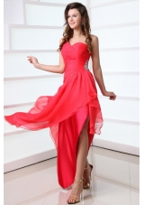 Chic Single Shoulder Asymmetrical Chiffon Prom Cocktail Dresses