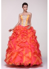 New Arrival Shimmering Strapless Two-tone Quinceanera Dresses