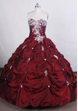 Beautiful Ball gown Sweetheart-neck Floor-length Quinceanera Dress