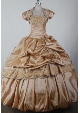 2012 Elegant Ball Gown Strapless Floor-length Qunceanera Dress