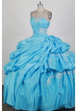 2012 Exquisite Ball Gown Strapless Floor-Length Quinceanera Dress