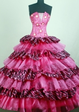 Pretty Ball Gown Strapless Floor-length Quinceanera Dress