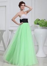 Apple Green Sweetheart Floor-length Sequins Apple Green Prom Dress