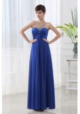 Sweetheart Empire Backless Beading Prom Dress