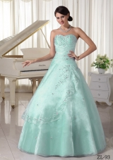 Lovely Quinceanera Dress with Appliques Beading in Princess Style