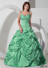 Princess Spaghetti Straps Discount Quinceanera Dress With Beading