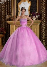 2014 Pretty Appliques Ball Gown Sweetheart Quinceanera Dress with Beading