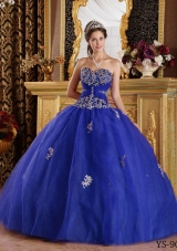 Elegant Sweetheart with Appliques Quinceanera Dresses for 2014