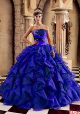 2014 Gorgeous Puffy Strapless Quinceanera Dresses with Ruffles
