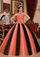Ball Gown Beading Red and Black 2014 Beautiful Quinceanera Dresses with Sweetheart