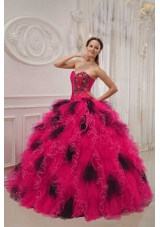 Popular Sweetheart Puffy Beading and Ruching 2014 Spring Quinceanera Dresses