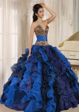 Fashionable Wholesale Multi-color 2014 Quinceanera Dress with Ruffles