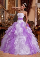 Multi-colored Puffy Sweetheart Beading and Ruching Quinceanera Dresses