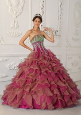 Sweet Puffy Strapless Beading and Appliques Quinceanera Dresses for 2014