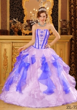 Exquisite Multi-Color Puffy Sweetheart Appliques Quinceanera Dresses for 2014