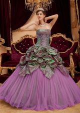 Gorgeous Puffy Strapless Beading Quinceanera Dresses for 2014