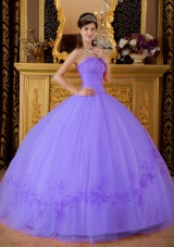 Perfect Lavender Sweetheart 2014 Spring Appliques Quinceanera Dresses