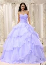 Elegant Sweetheart Ruching 2014 Spring Quinceanera Dresses